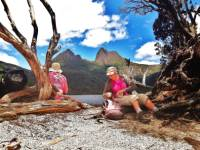 Enjoying lunch along side Dove Lake |  <i>Ashton Sayer</i>