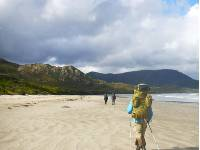 Walking towards Cox Bight on the South Coast Track |  <i>Stef Gebbie</i>