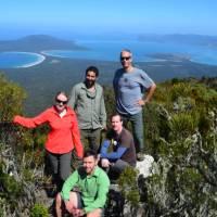 Group on Mt Maria, highest peak on Maria Island   Brian Dodson
