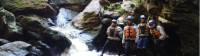 Trekkers getting a pose on in front of the rapids |  <i>Michele Eckersley</i>
