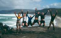 Happy group of trekkers on the South Coast Track |  <i>Anne Jordan</i>