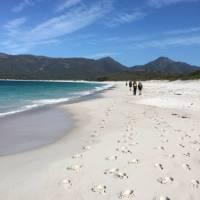 Walking on Wineglass Bay | Michael Hall