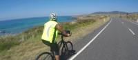 Cycling towards Bicheno on the East Coast of Tasmania | Brad Atwal