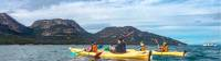 Kayaking the crystal clear waters in Coles Bay |  <i>Wai Nang Poon</i>
