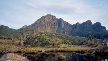 Looking over Lake Judd towards Mount Anne | Tourism Tasmania & Geoff Murray