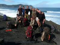 Happy trekkers at the end of the South Coast Track |  <i>Steve Trudgeon</i>