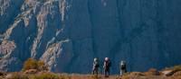 Trekkers in the Walls of Jerusalem National Park walking towards Mt Jerusalem | Don Fuchs