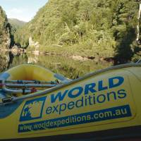 World Expeditions rafts on the Franklin River Tasmania |  <i>Ivan Edhouse</i>