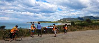 Stopping for a short break on the Cycle, Kayak, Walk Tasmania trip | Oscar Bedford